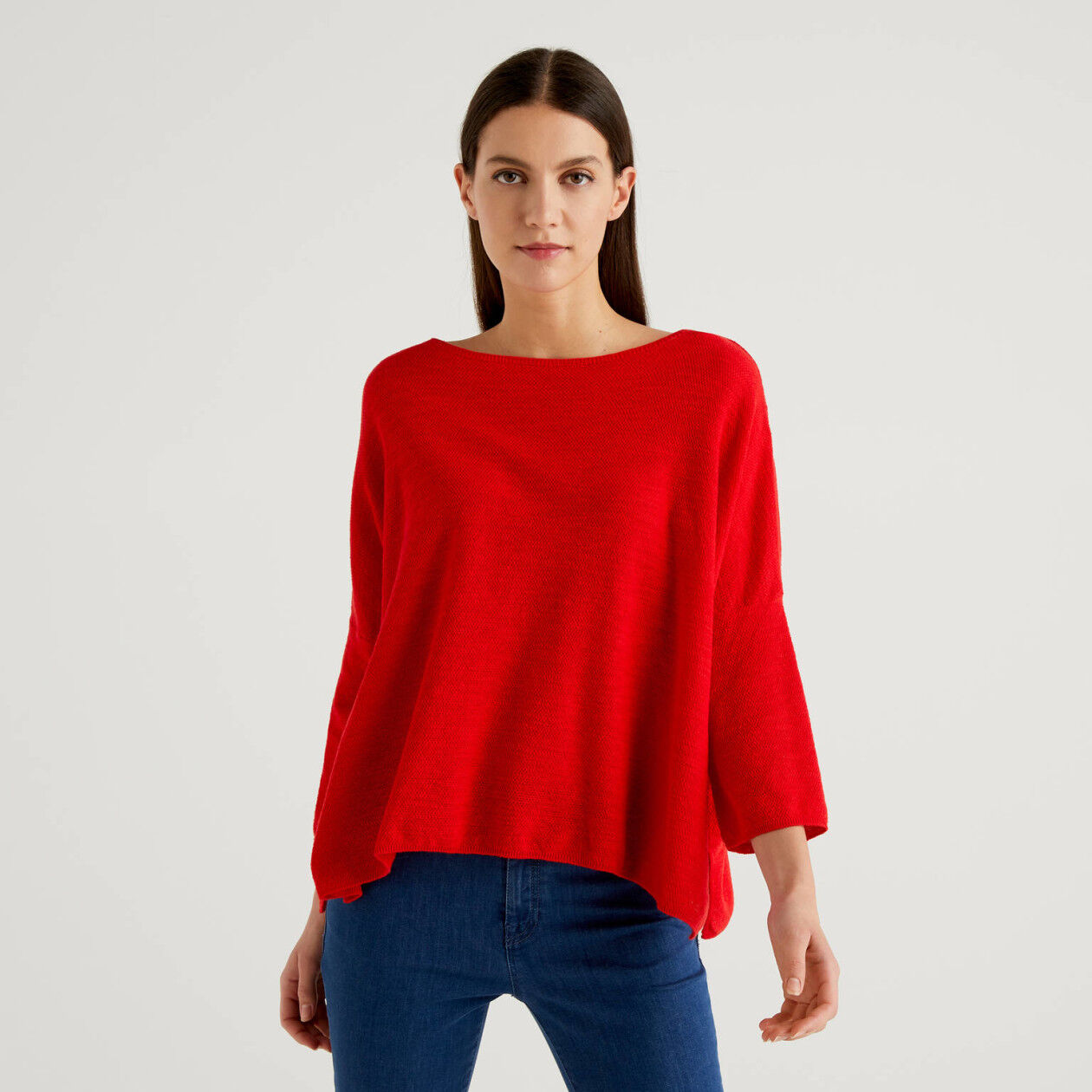 Sweater with slits