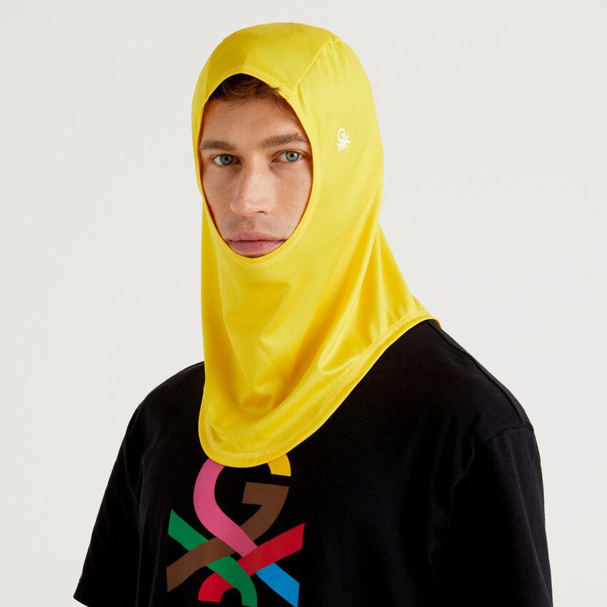 Unisex yellow hijab with logo by Ghali