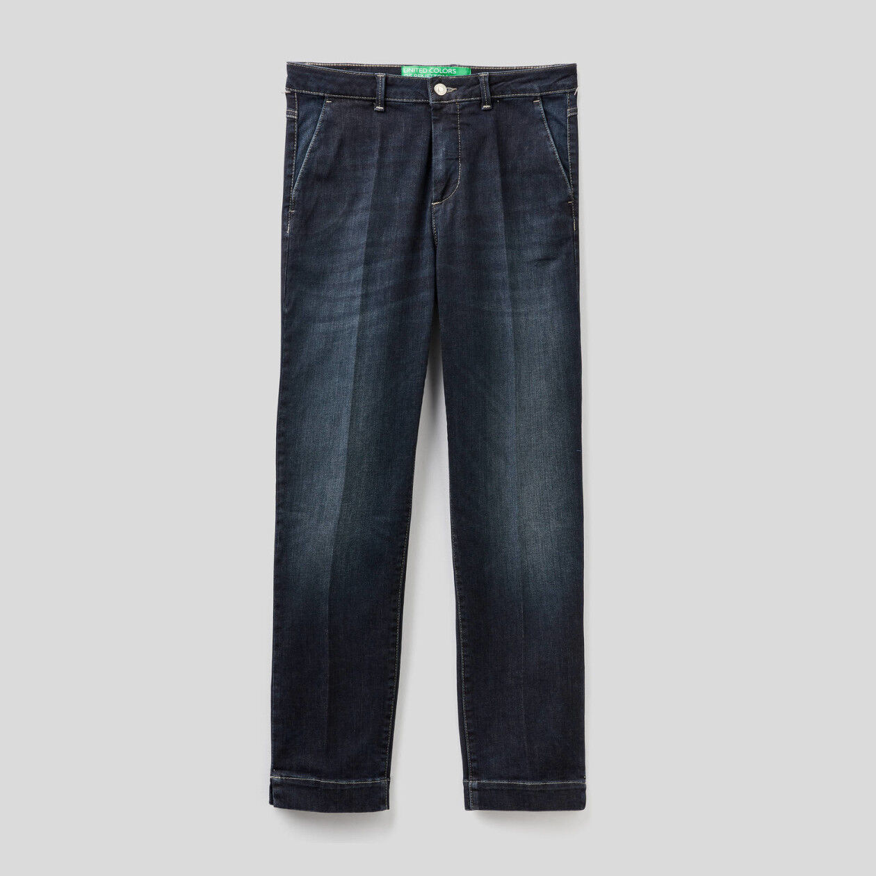 Slim fit denim chinos