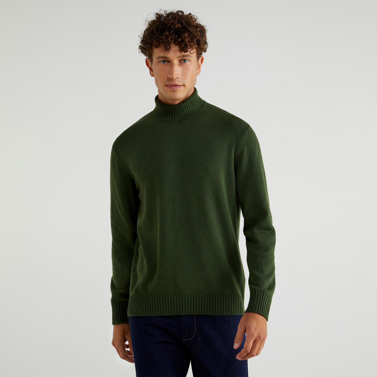 Turtleneck in cashmere blend