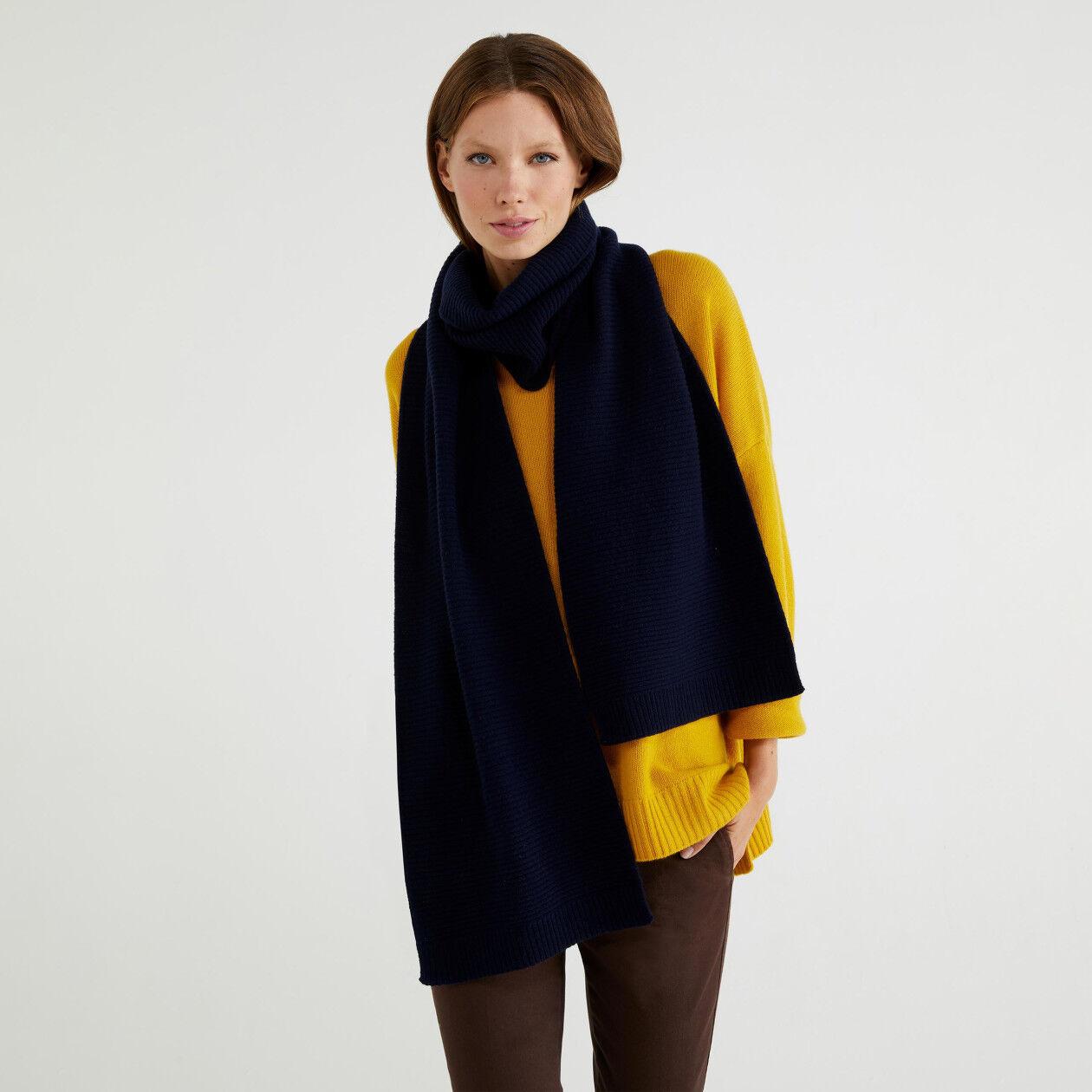 Wool blend scarf