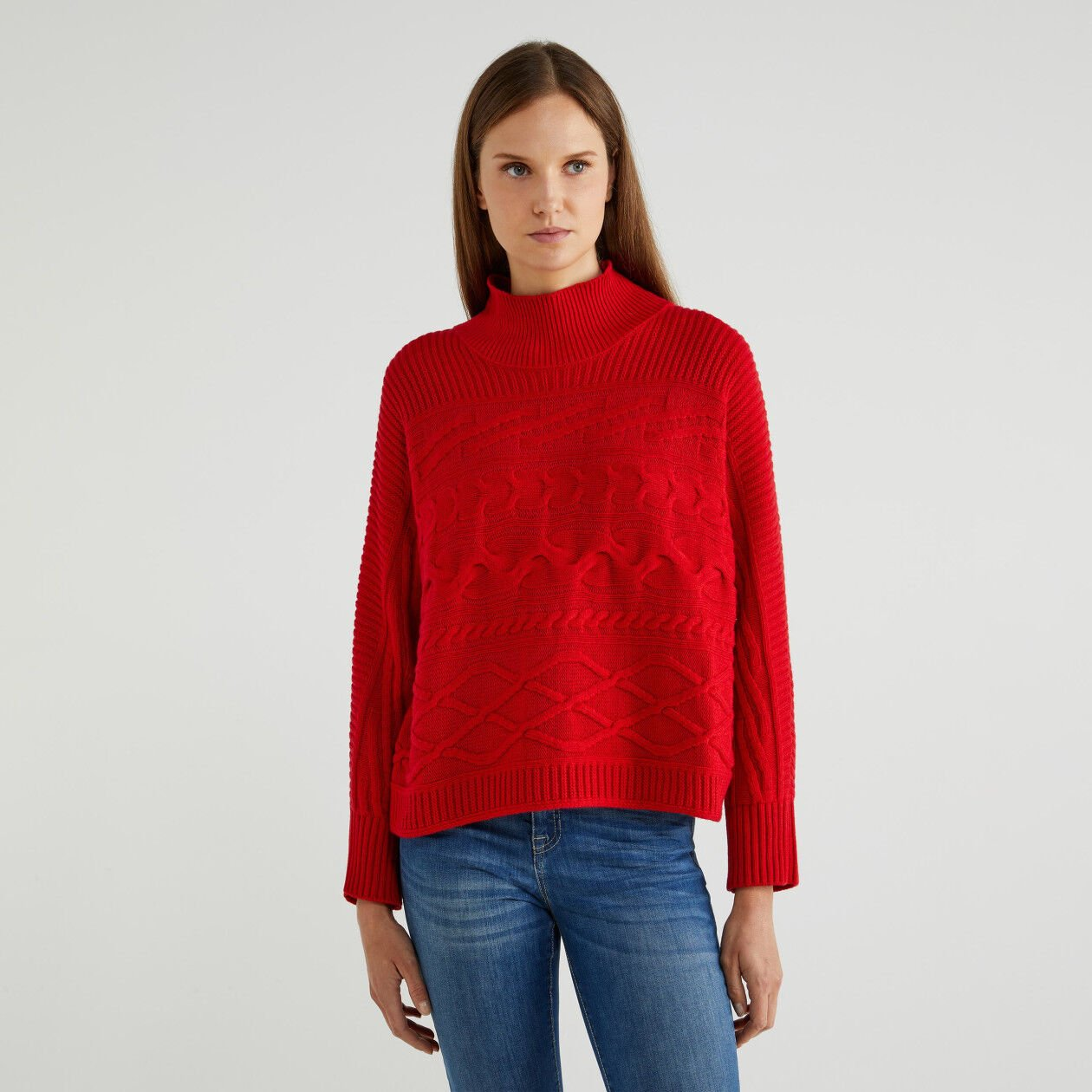 Turtleneck sweater in wool and cashmere