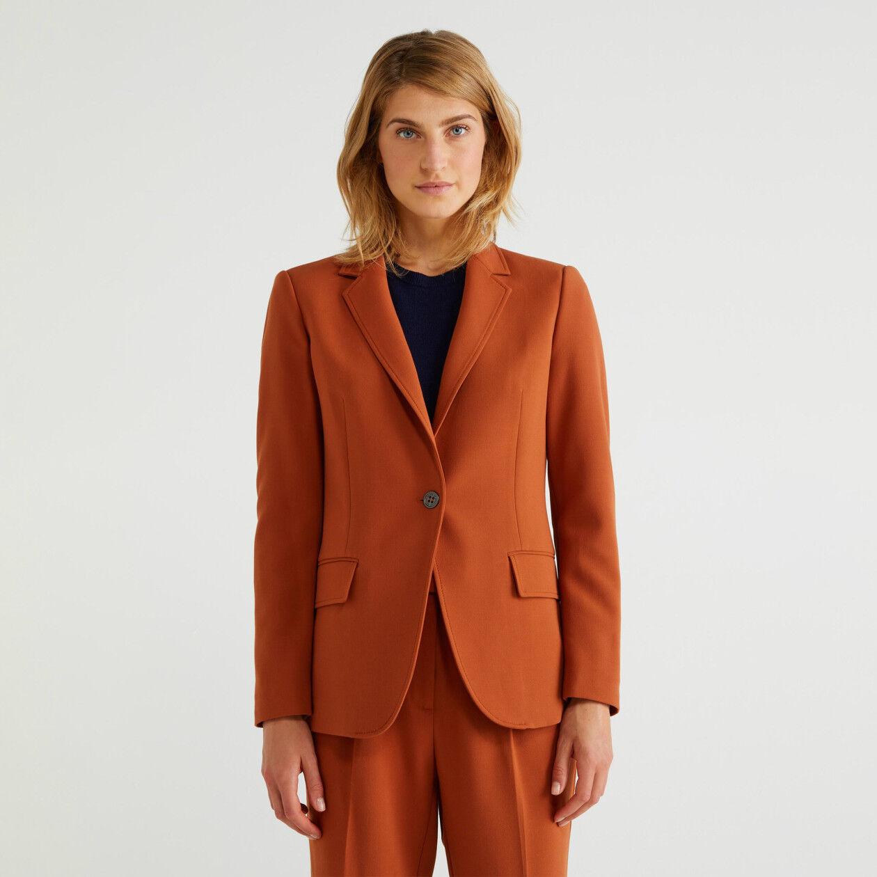 Single-breasted stretch blazer