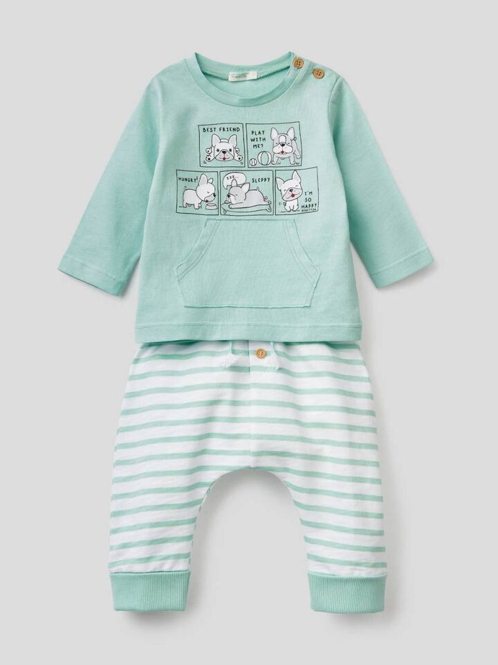 Printed set in 100% cotton