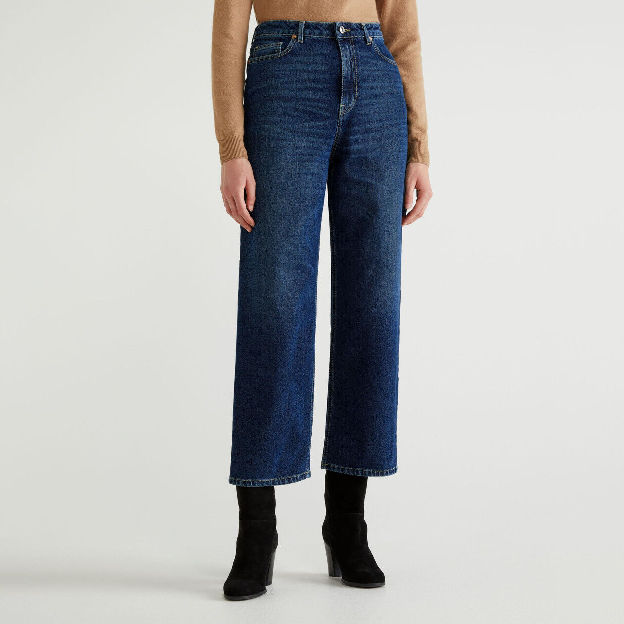 Mum fit jeans in stretch denim