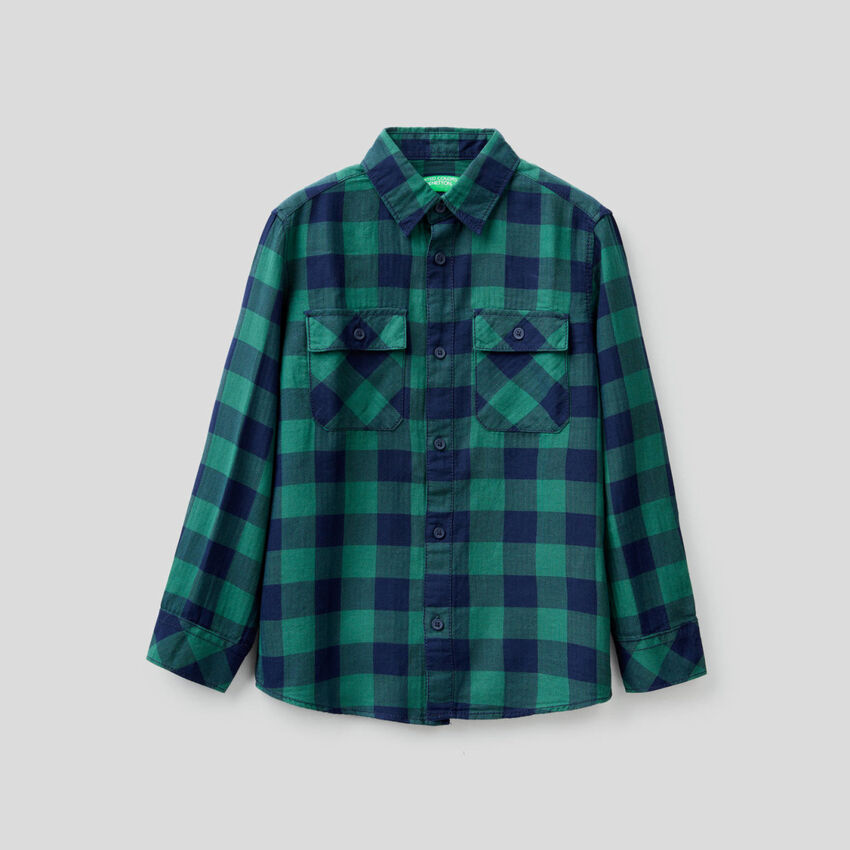 Check shirt in 100% cotton