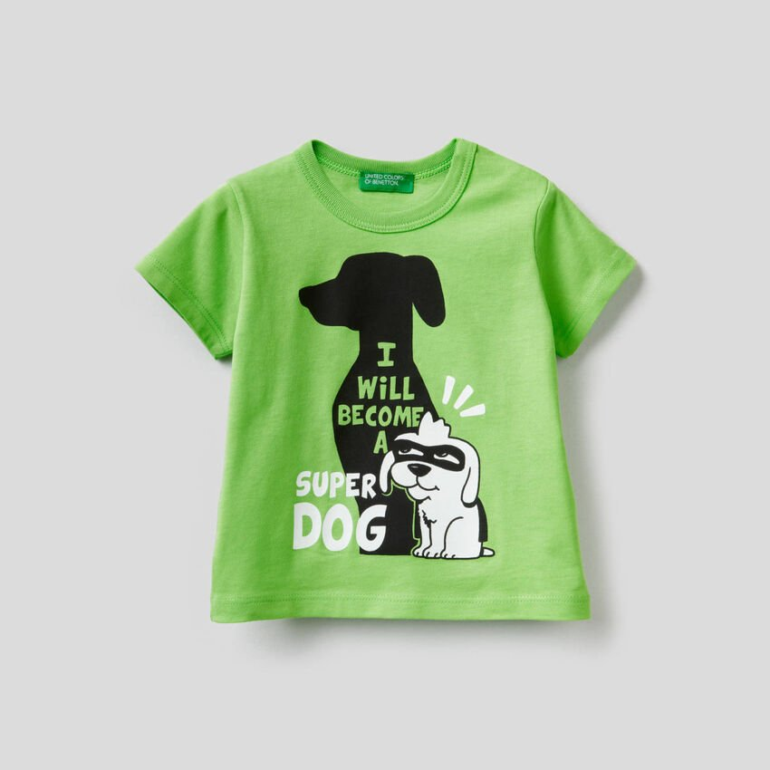 100% cotton t-shirt with maxi print