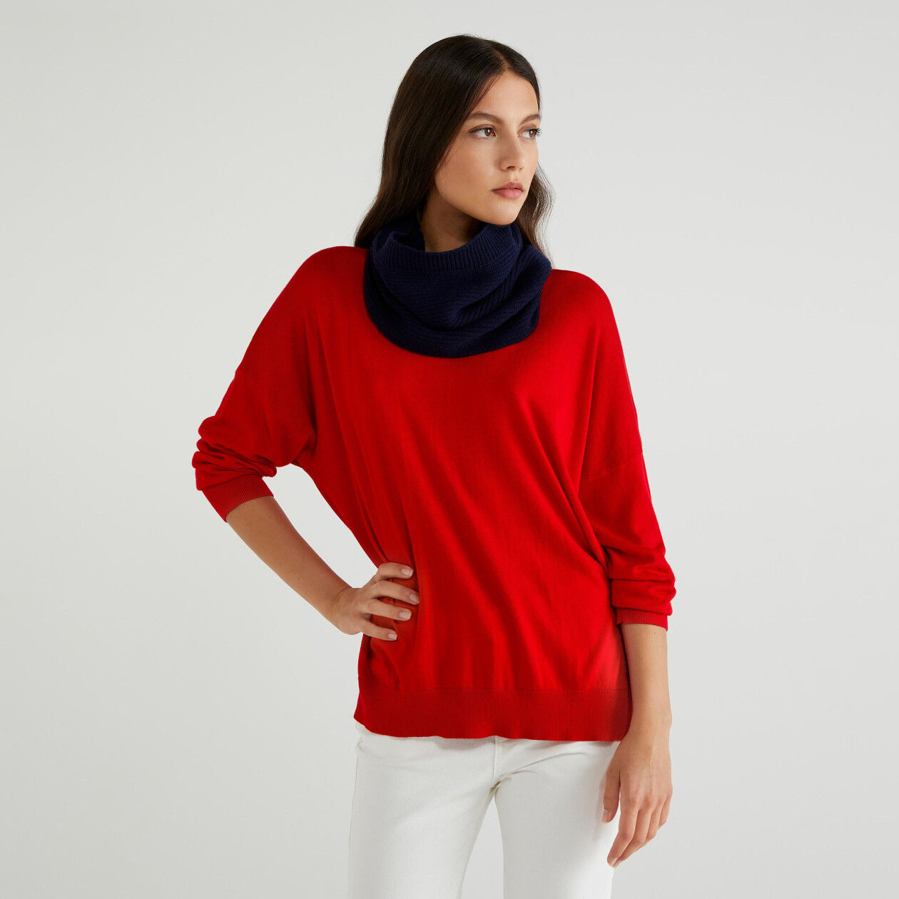 Wool blend neck warmers