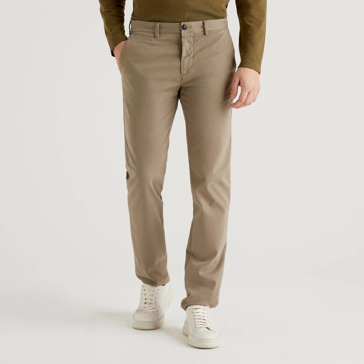 Dove gray slim fit chinos