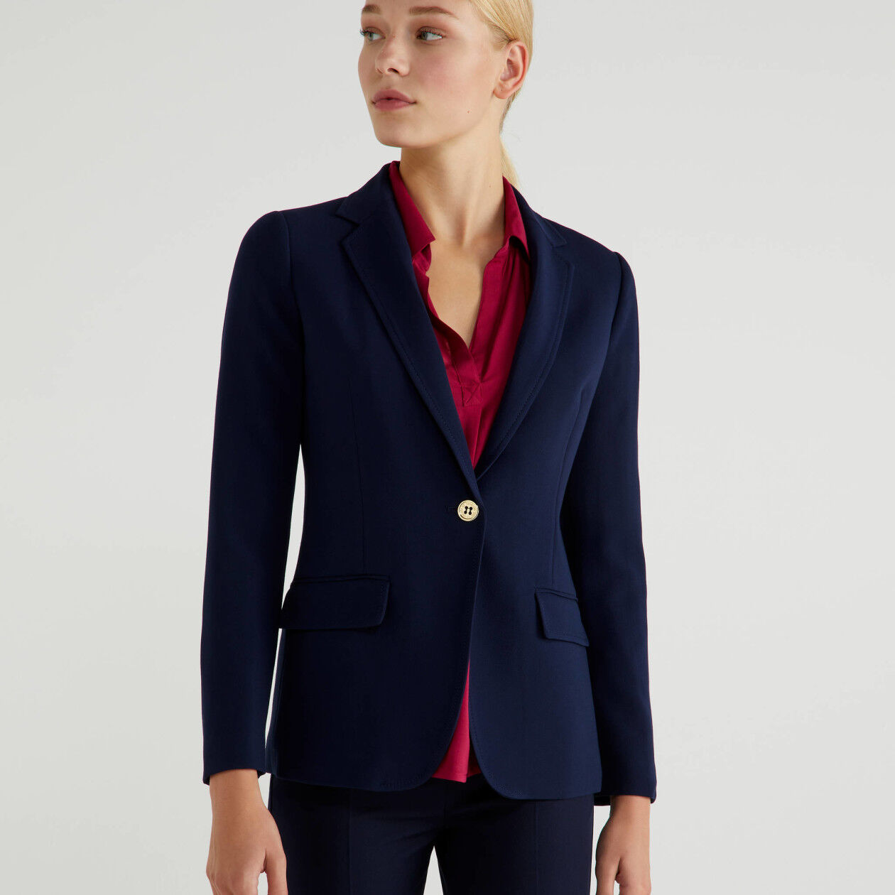 Single-breasted stretch blazer